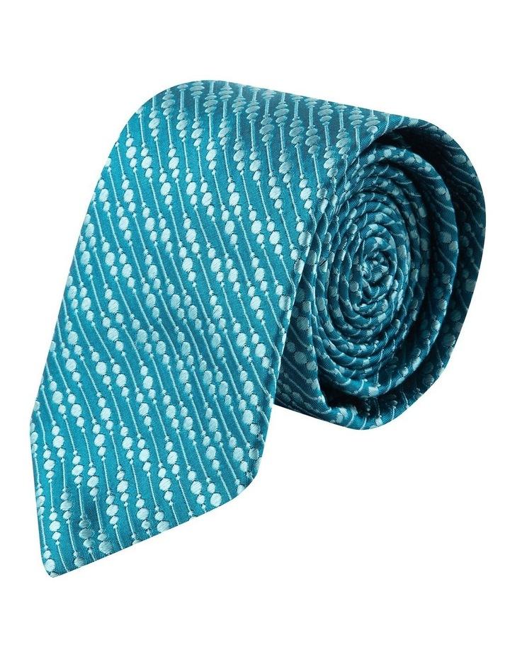 Teal Bubbles 6.5cm Silk Tie image 1