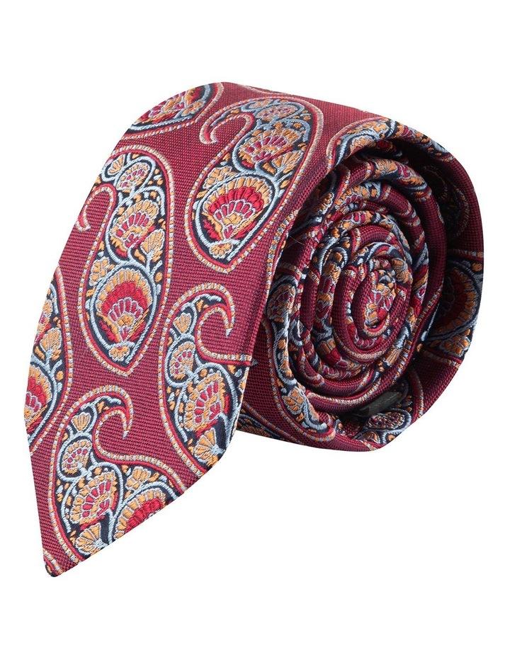 Berry Deco Paisley 6.5cm Silk Tie image 1