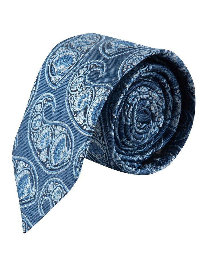 Blue Deco Paisley 6.5cm Silk Tie image 1