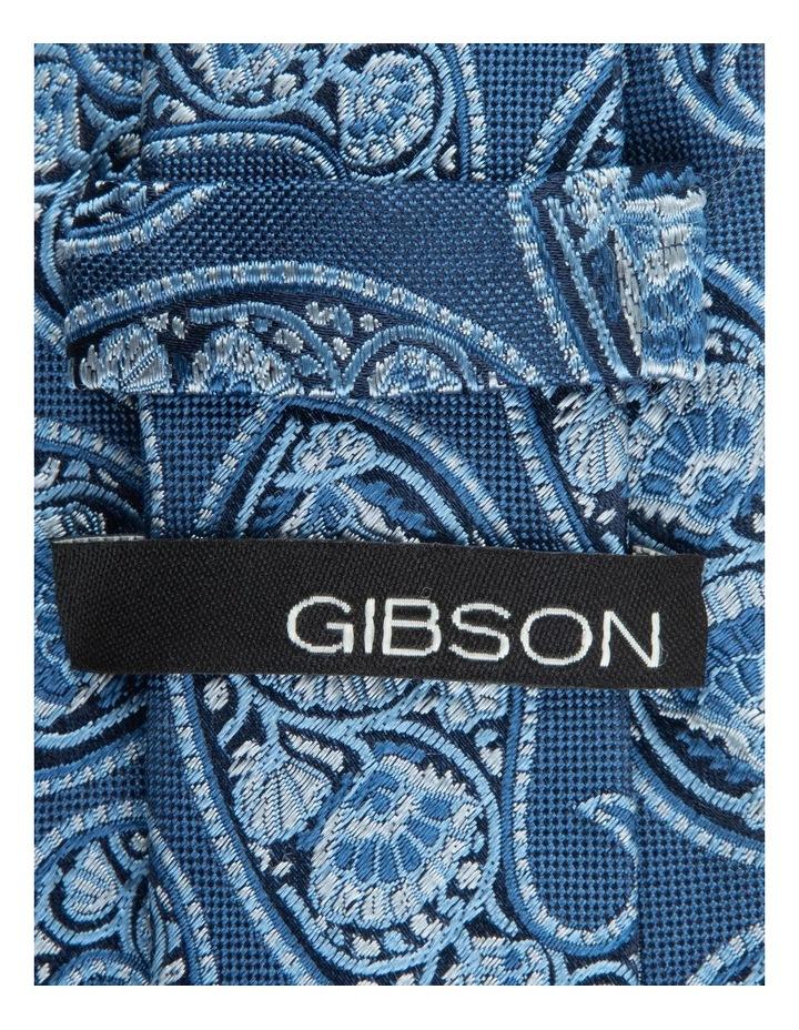 Blue Deco Paisley 6.5cm Silk Tie image 2