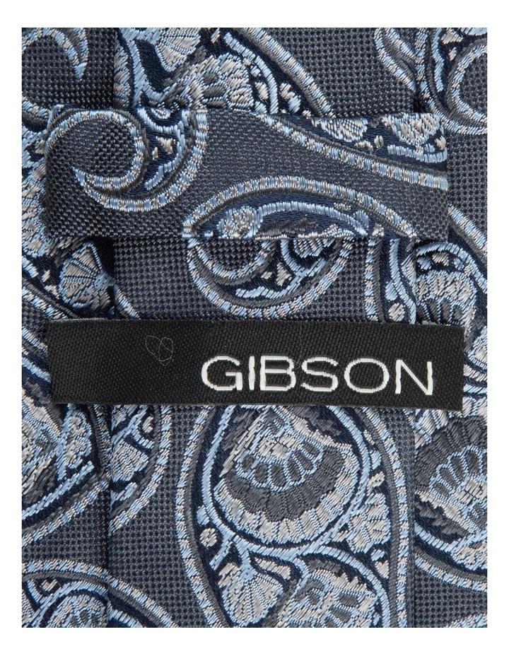 Grey Deco Paisley 6.5cm Silk Tie image 2