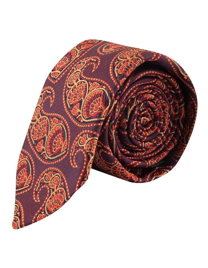 Wine Deco Paisley 6.5cm Silk Tie image 1