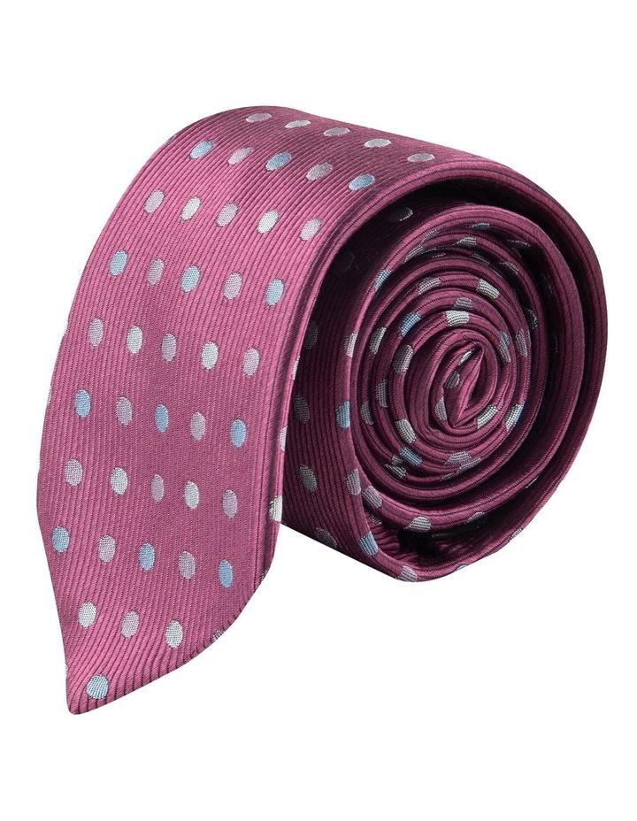 Berry Multi Polkadot 6.5cm Silk Tie image 1