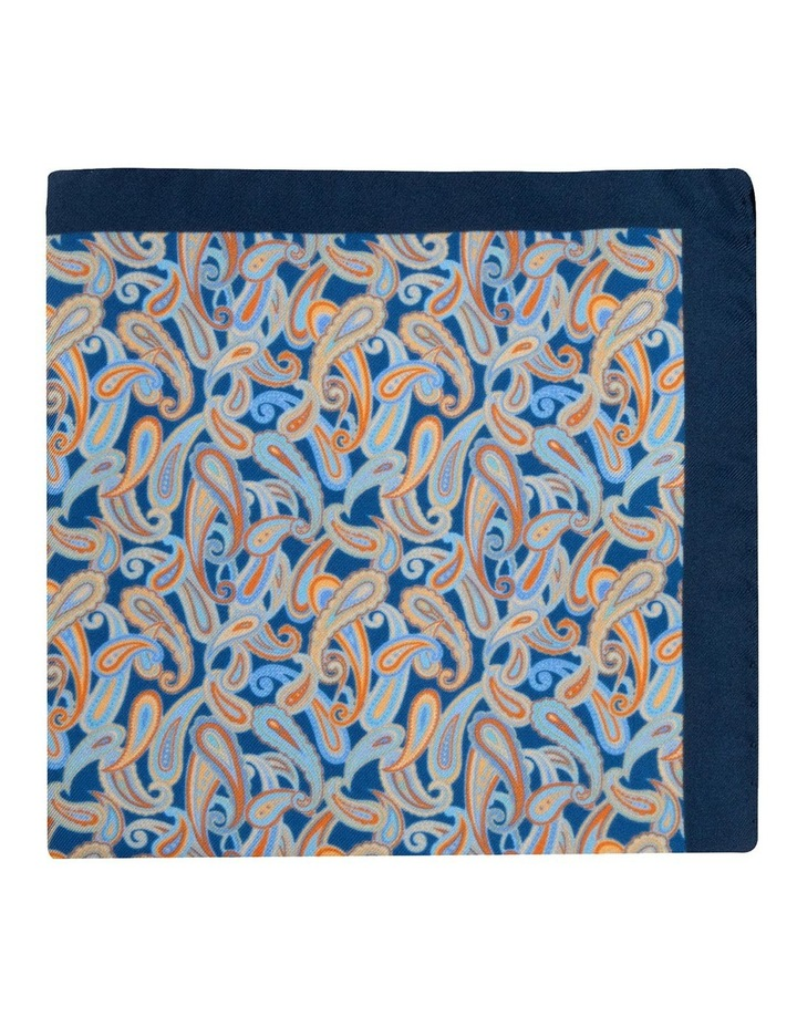 Blue Petrie Paisley Silk Twill Pocket Square image 1