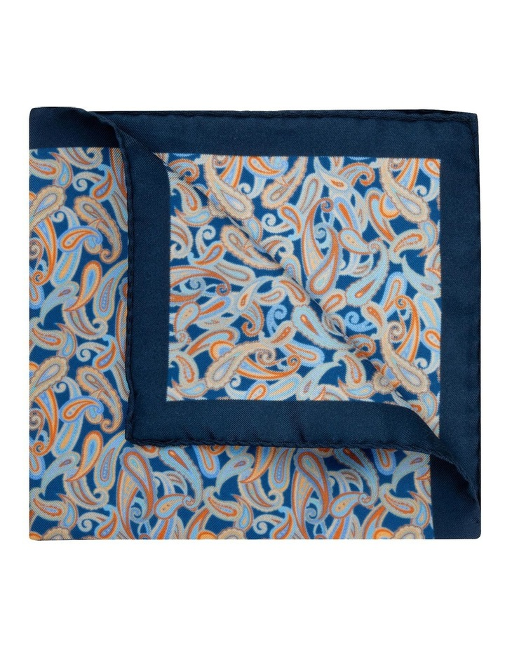 Blue Petrie Paisley Silk Twill Pocket Square image 2
