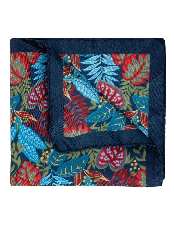 Navy Houseplants Silk Twill Pocket Square image 2