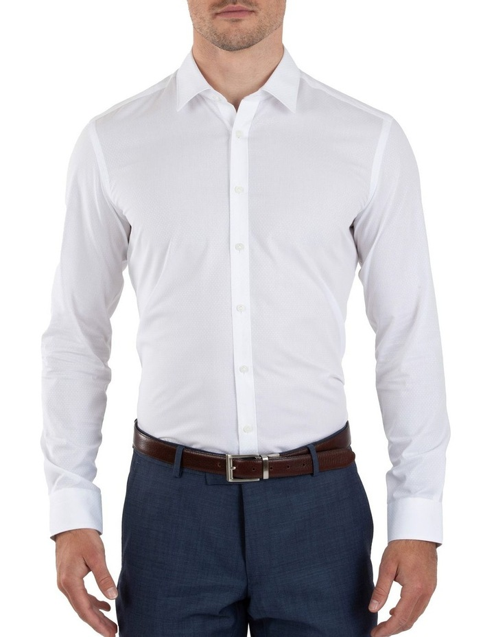 Slim Fit Flame White Shirt FGL676 image 1