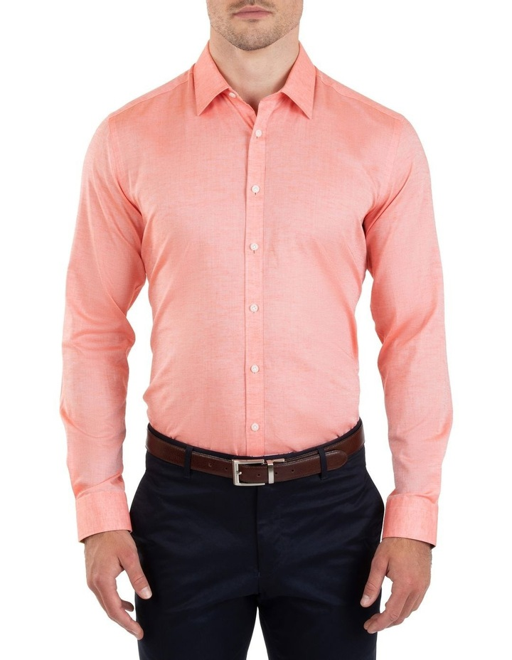 Slim Fit Redox Salmon Pink Cotton Tencel Shirt FGM695 image 1