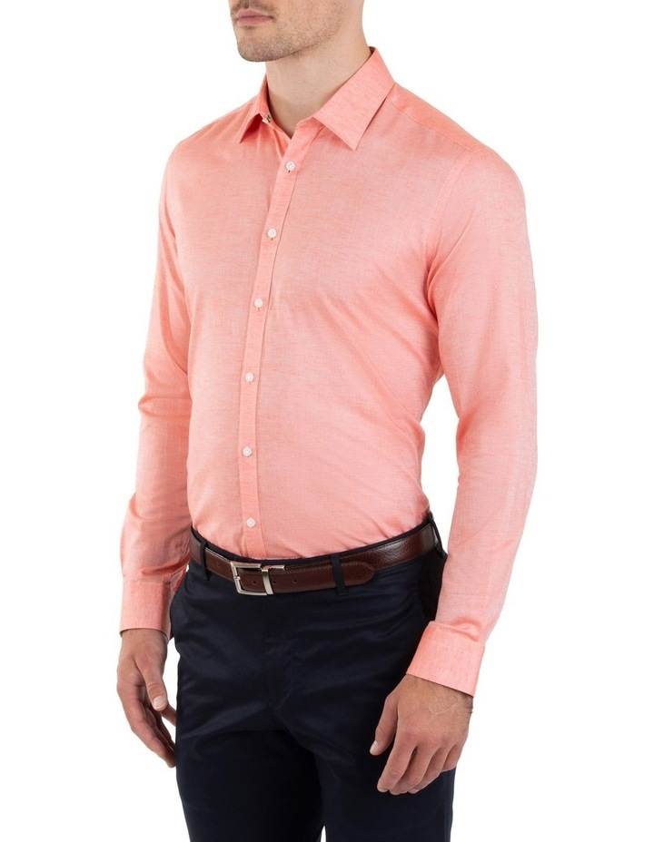 Slim Fit Redox Salmon Pink Cotton Tencel Shirt FGM695 image 2