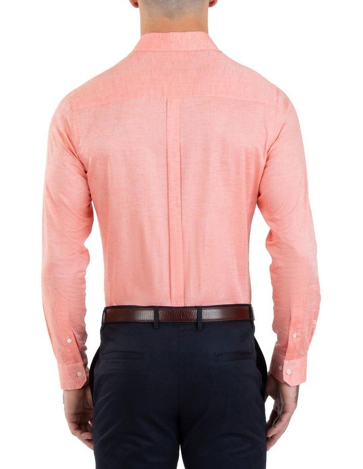 Slim Fit Redox Salmon Pink Cotton Tencel Shirt FGM695 image 3