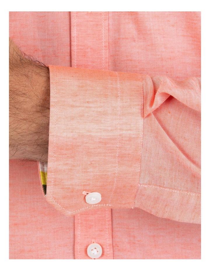 Slim Fit Redox Salmon Pink Cotton Tencel Shirt FGM695 image 4