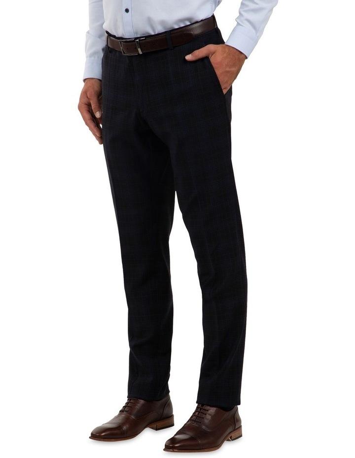 Slim Fit Caper Black Trouser FGM700 image 2