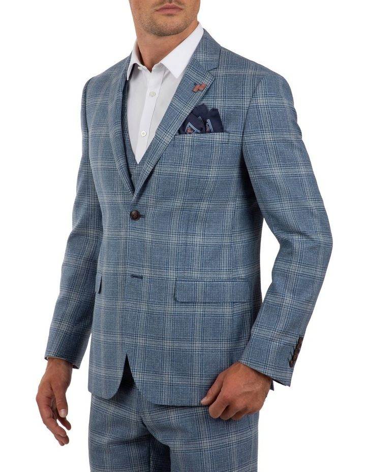 Slim Fit Nitro Blue Check Jacket FGM701 image 2