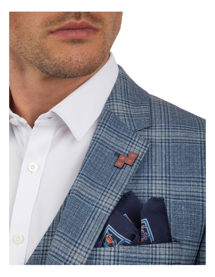 Slim Fit Nitro Blue Check Jacket FGM701 image 4