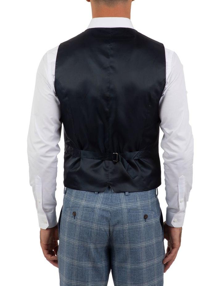 Slim Fit Joule Blue Check Vest FGM701 image 3