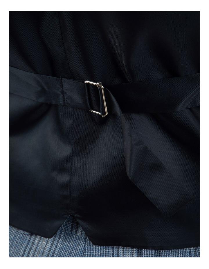 Slim Fit Joule Blue Check Vest FGM701 image 4