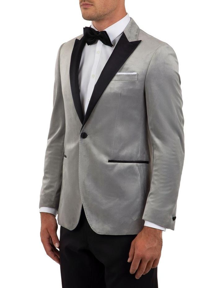 Slim Fit Solace Silver Velvet Dinner Jacket FGM704 image 2