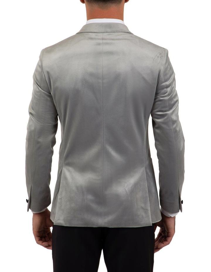 Slim Fit Solace Silver Velvet Dinner Jacket FGM704 image 3