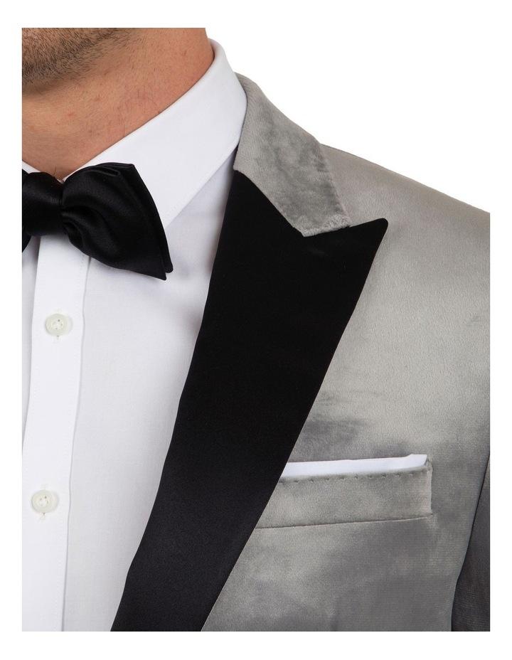 Slim Fit Solace Silver Velvet Dinner Jacket FGM704 image 4