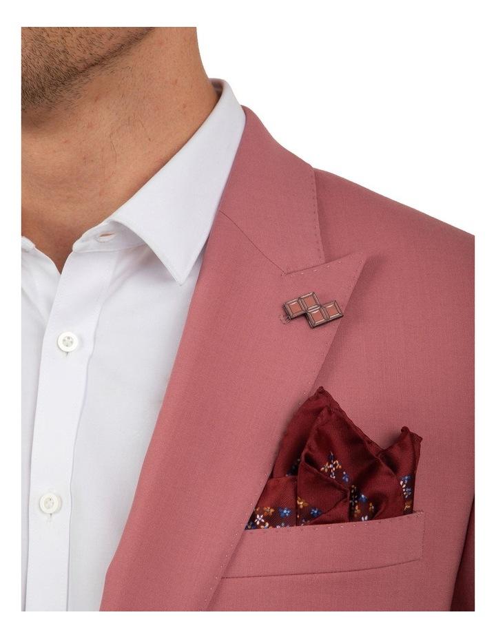 Slim Fit Ionic Salmon Pink Jacket FGM707 image 4