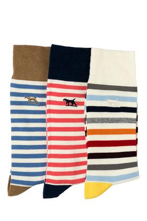 Rodd & Gunn - Slipper Island Three Pack Sock - Assorted