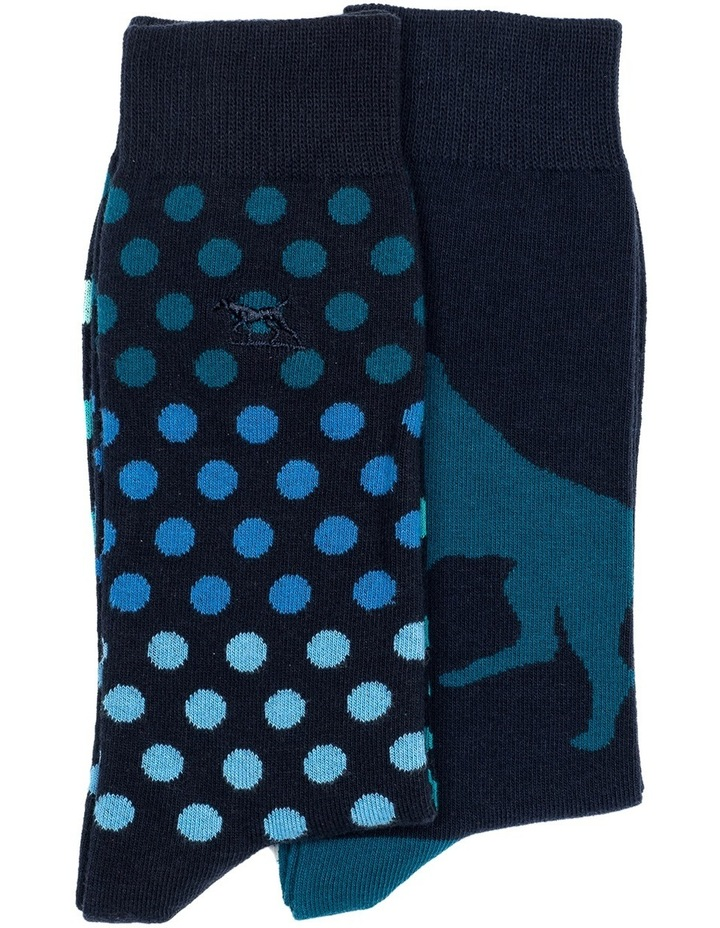 Findlay Road Two Pack Sock - Sea image 1