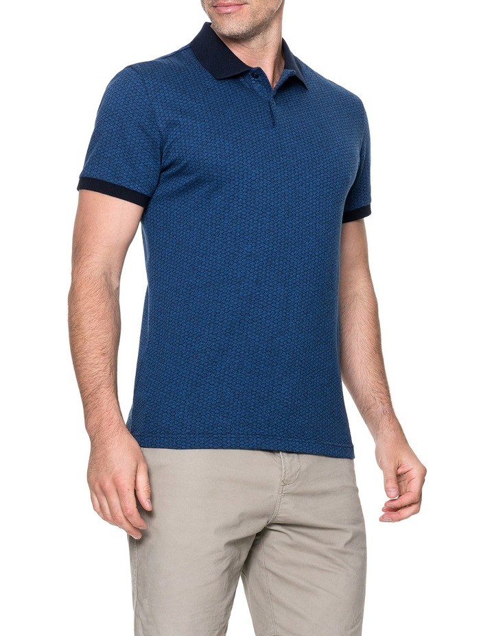 Mantle Hill Sports Fit Polo - Ocean image 2