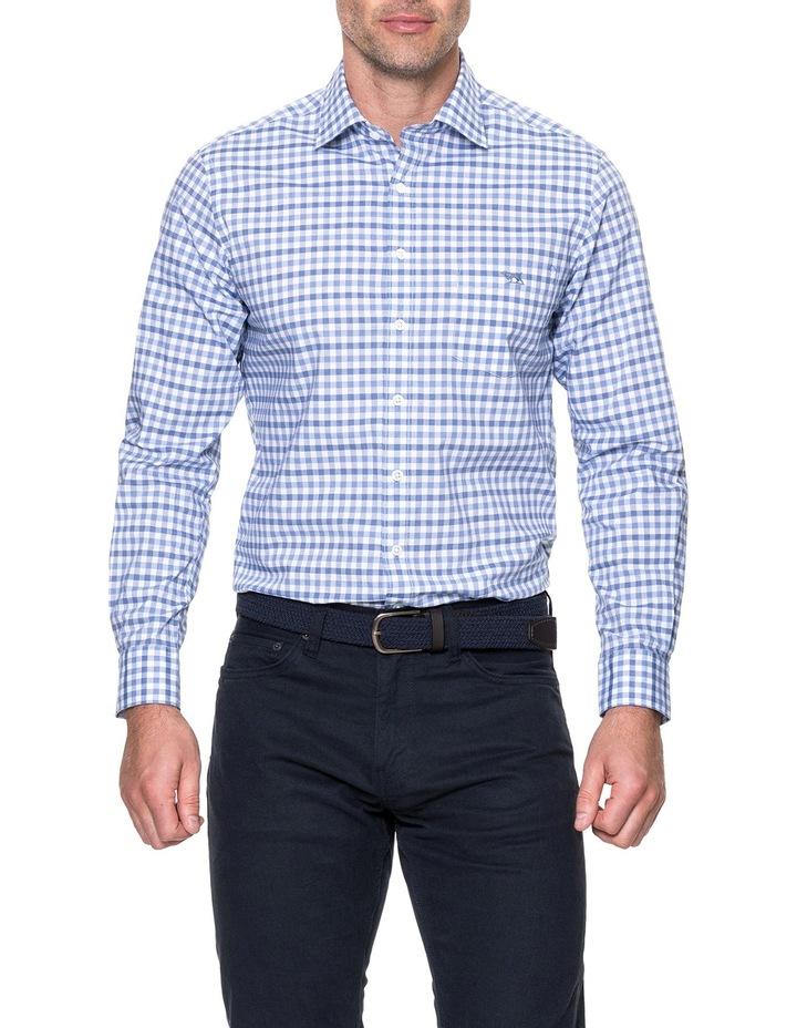 Shorecliffe Long Sleeve Sports Fit Shirt - Peacoat image 1
