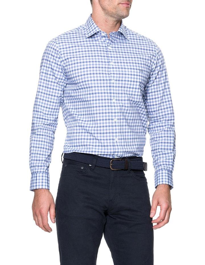 Shorecliffe Long Sleeve Sports Fit Shirt - Peacoat image 2