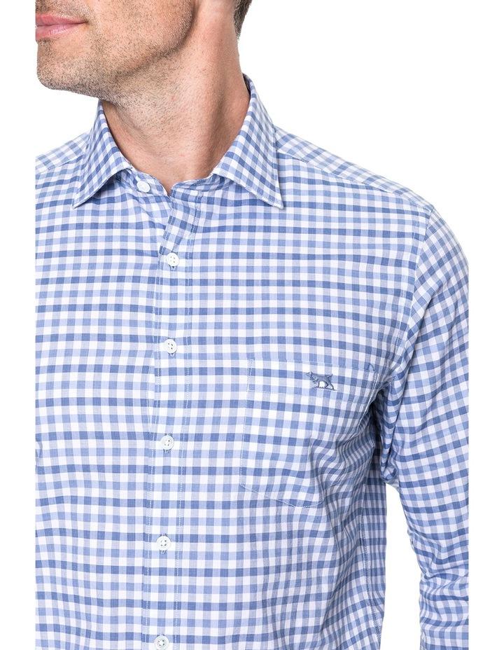 Shorecliffe Long Sleeve Sports Fit Shirt - Peacoat image 4