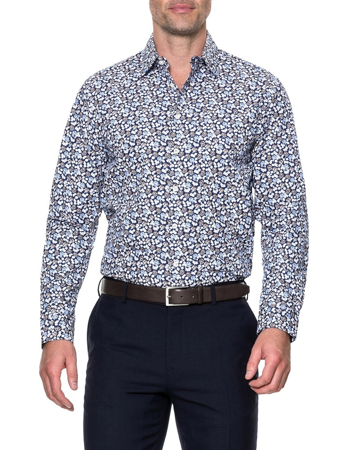 Lombard Long Sleeve Tailored Fit Shirt - Royal image 1