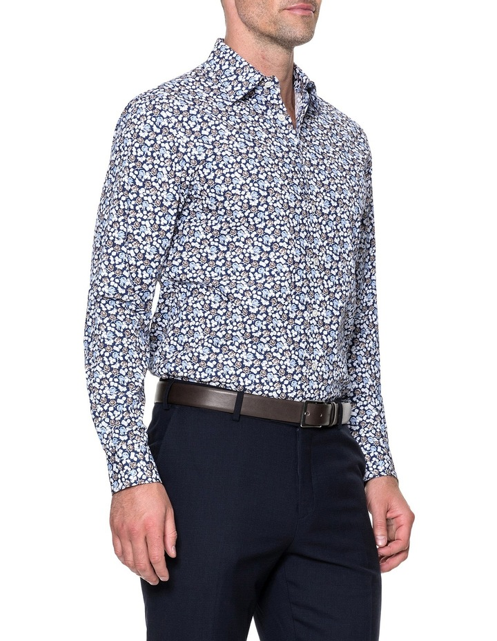 Lombard Long Sleeve Tailored Fit Shirt - Royal image 2