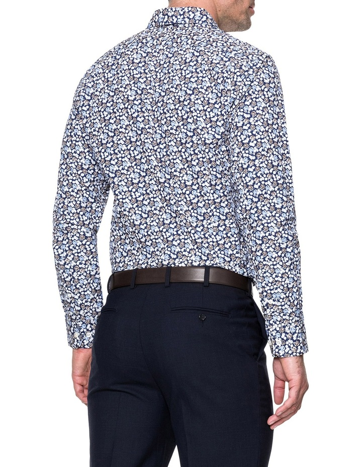 Lombard Long Sleeve Tailored Fit Shirt - Royal image 3