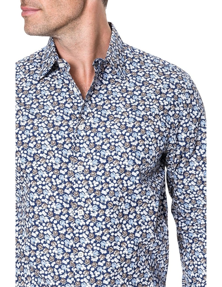 Lombard Long Sleeve Tailored Fit Shirt - Royal image 4