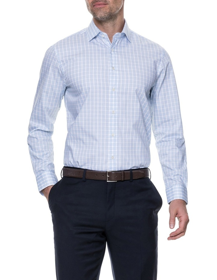 Brackley Long Sleeve Tailored Fit Shirt - Sky image 1