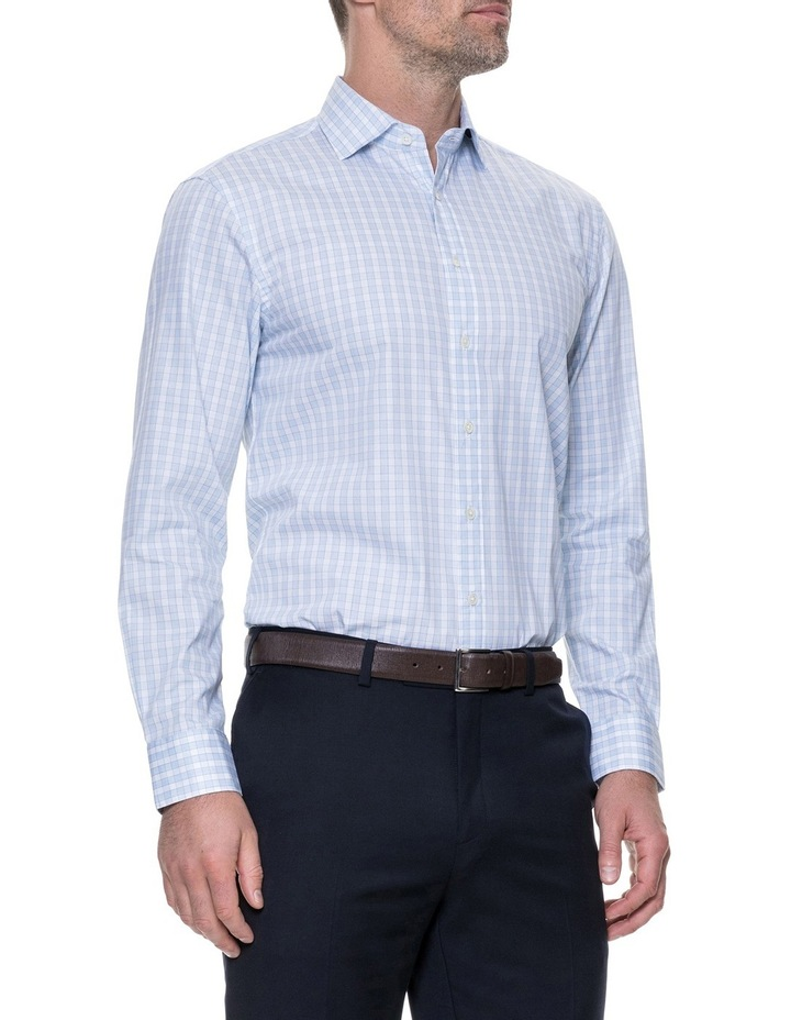 Brackley Long Sleeve Tailored Fit Shirt - Sky image 2