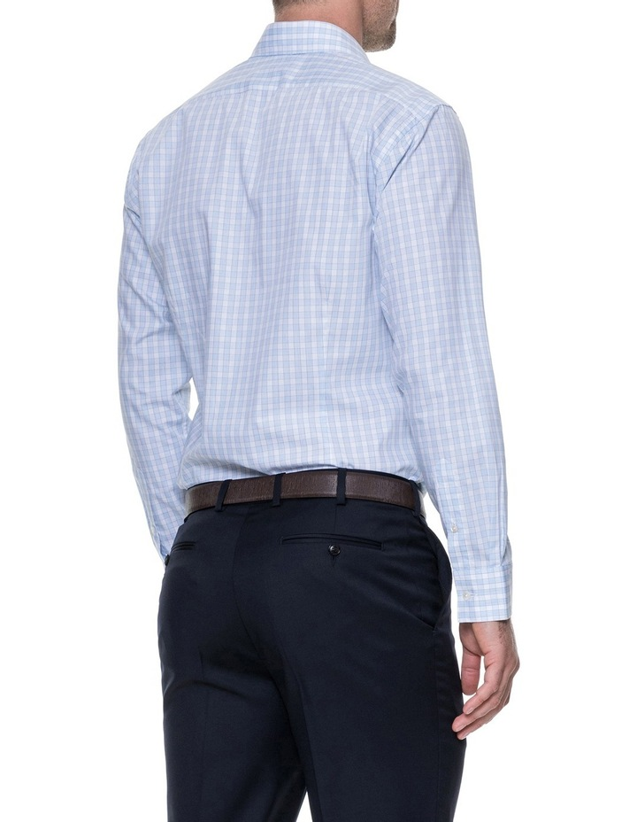 Brackley Long Sleeve Tailored Fit Shirt - Sky image 3