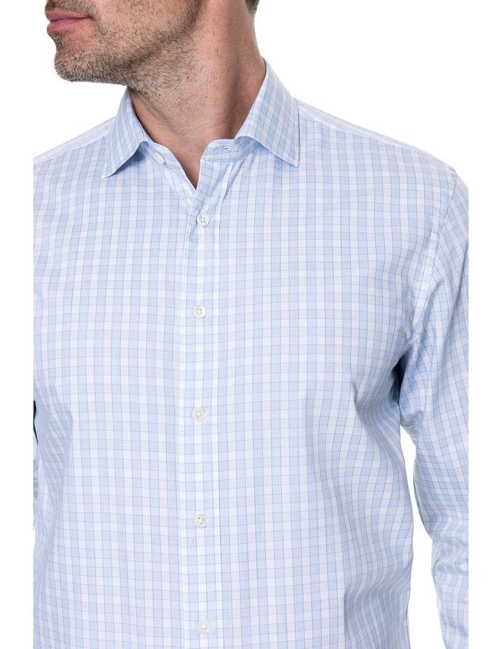 Brackley Long Sleeve Tailored Fit Shirt - Sky image 4
