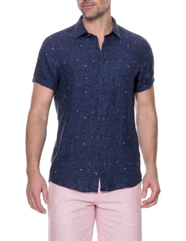 Renforth Short Sleeve Sports Fit Shirt - Marine image 1
