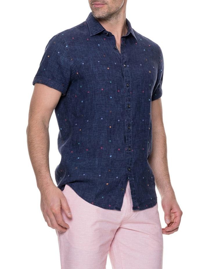 Renforth Short Sleeve Sports Fit Shirt - Marine image 2