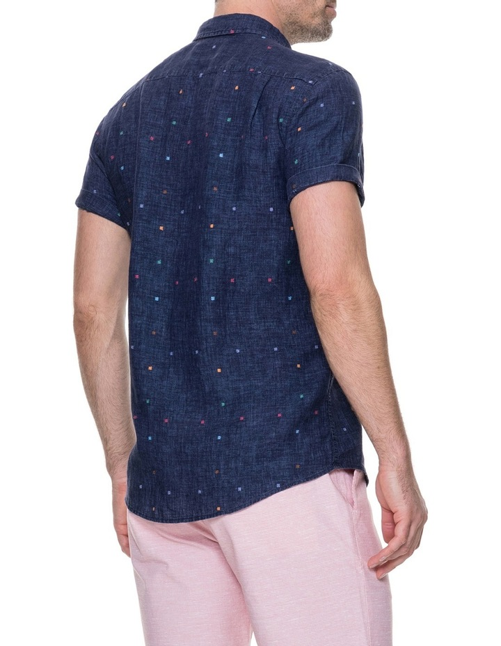 Renforth Short Sleeve Sports Fit Shirt - Marine image 3