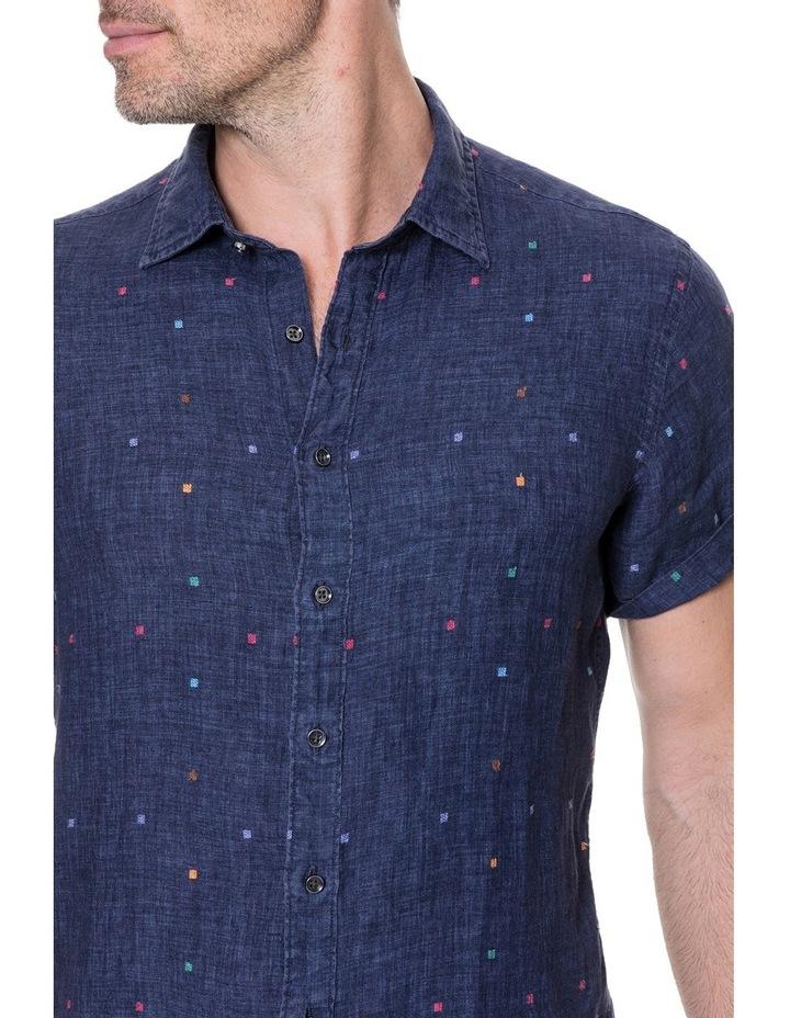 Renforth Short Sleeve Sports Fit Shirt - Marine image 4
