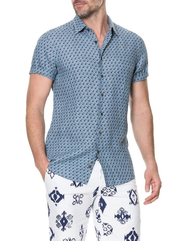 York Bay Short Sleeve Sports Fit Shirt - Blue image 2