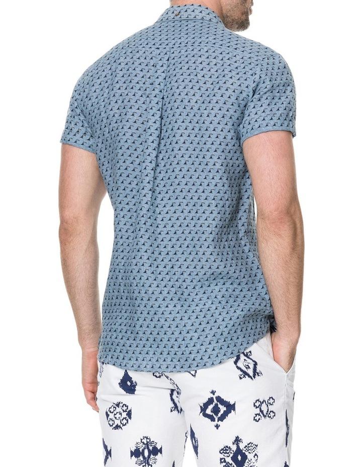 York Bay Short Sleeve Sports Fit Shirt - Blue image 3
