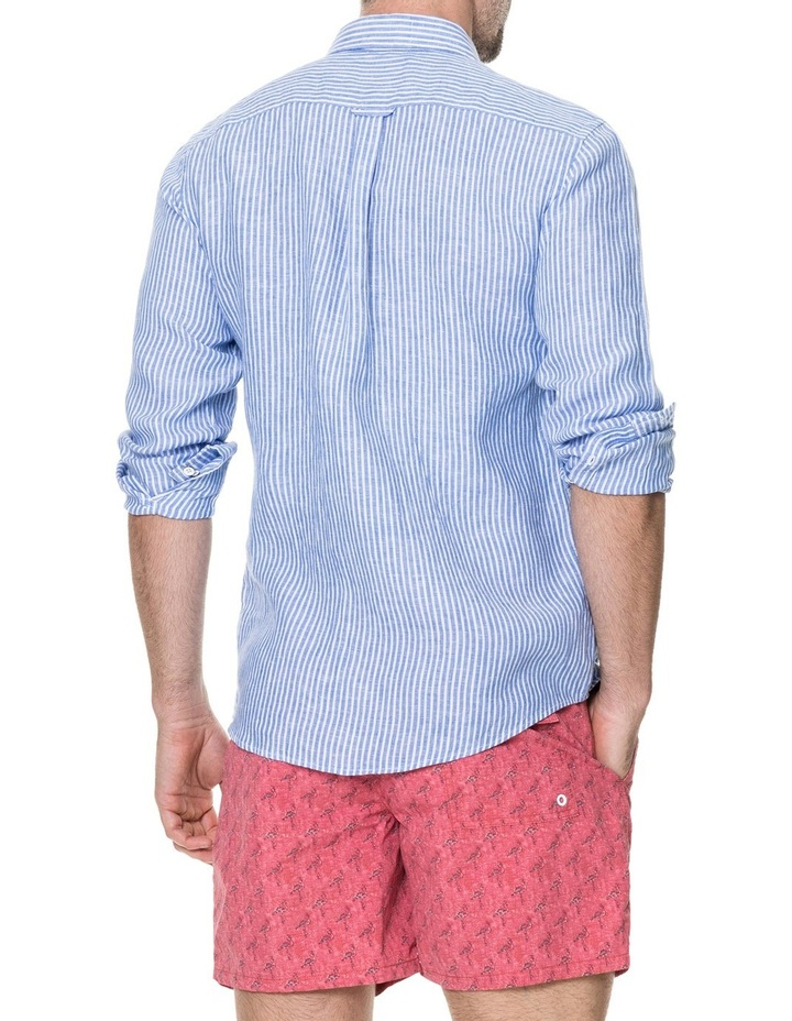 Derby Long Sleeve Sports Fit Shirt - Sky image 3