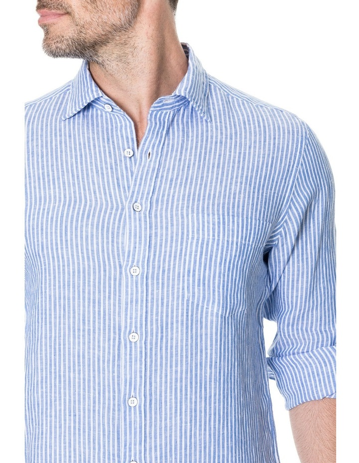 Derby Long Sleeve Sports Fit Shirt - Sky image 4