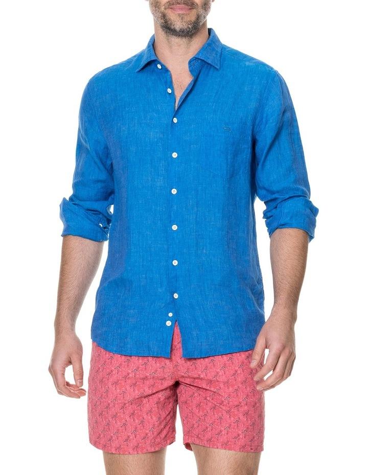 Harris Bay Long Sleeve Sports Fit Shirt - Lagoon image 1