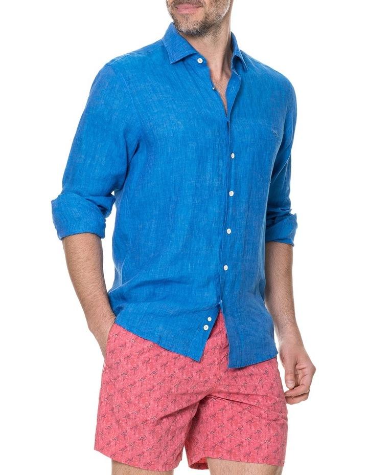 Harris Bay Long Sleeve Sports Fit Shirt - Lagoon image 2