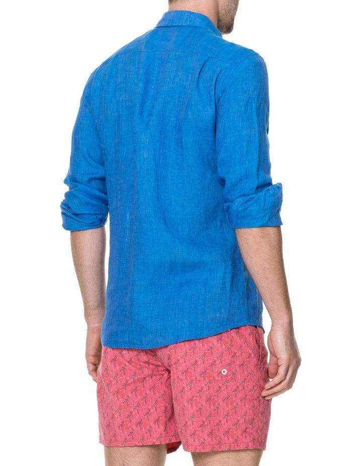 Harris Bay Long Sleeve Sports Fit Shirt - Lagoon image 3