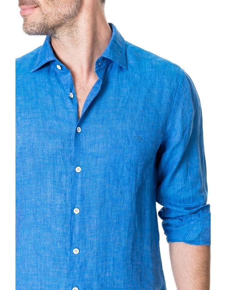 Harris Bay Long Sleeve Sports Fit Shirt - Lagoon image 4